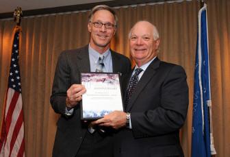 ESC Board Member Bill Snape and Senator Ben Cardin