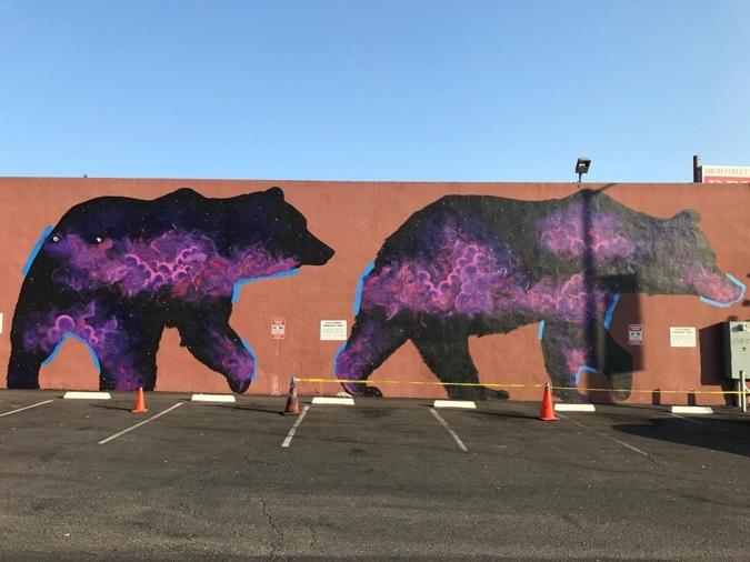 """California Grizzly Bear Series, Oakland, CA, by Roger Peet and Fernando """"Rush"""" Santos"""