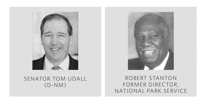 Senator Tom Udall (D-NM) and Robert Stanton, former Director National Park Service and ESC Board Member