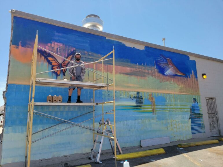 Creation of mural in New Mexico