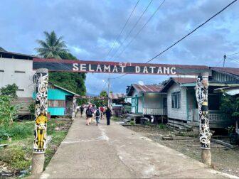 Street scene in Borneo